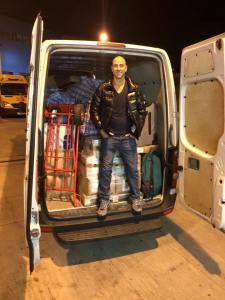 Van ready to go to Berlin with just over 1000kgs of donated clothing! Thanks for all your help Raz Hussain! Safe journey and see you there on Thursday!