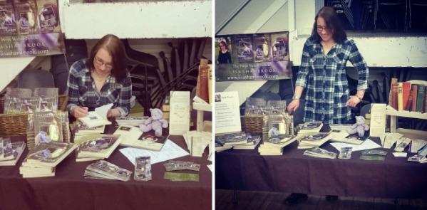 Lisa Shambrook Llandeilo Book Fair 2016 table