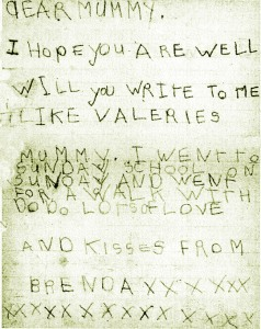 BRENDA Osborne first letter home