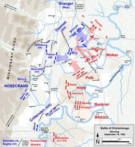 Battle of Chickamauga, September 19, 1863. Map courtesy of Hal Jespersen. www.posix.com/CW
