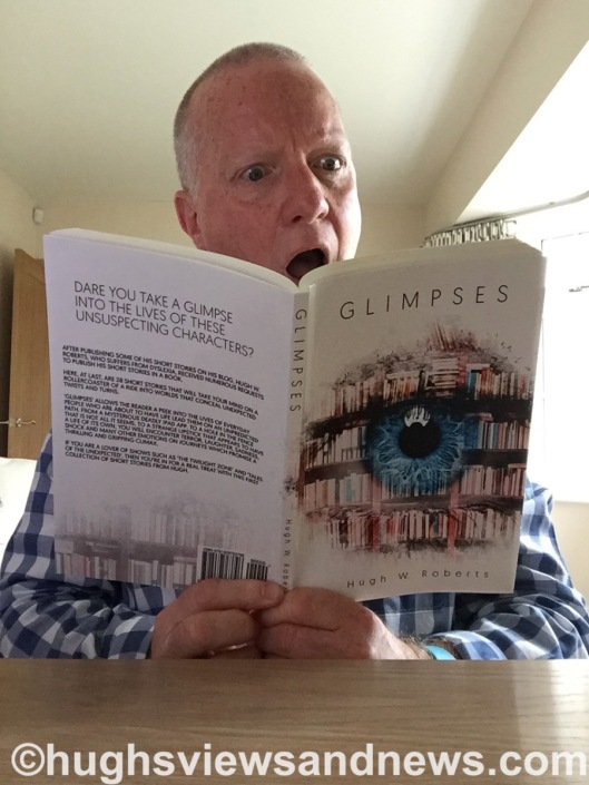 Hugh reading Glimpses