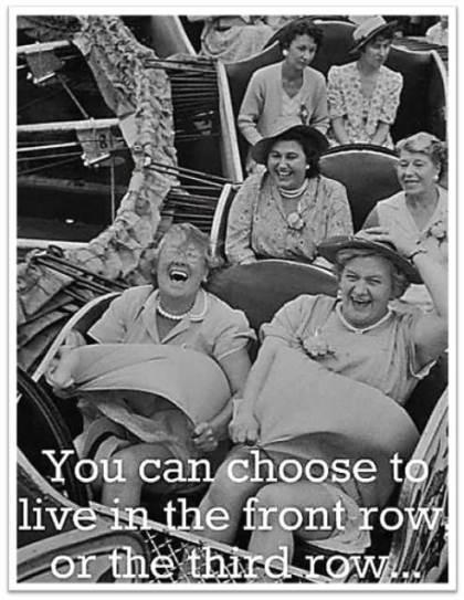 Roller Coaster Ladies Front Row