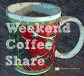 coffee cup celebrates weekend coffee share